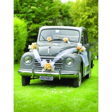 Trouwauto decoratie set zilver 6 delig kopen snelle for Decoratie zilver