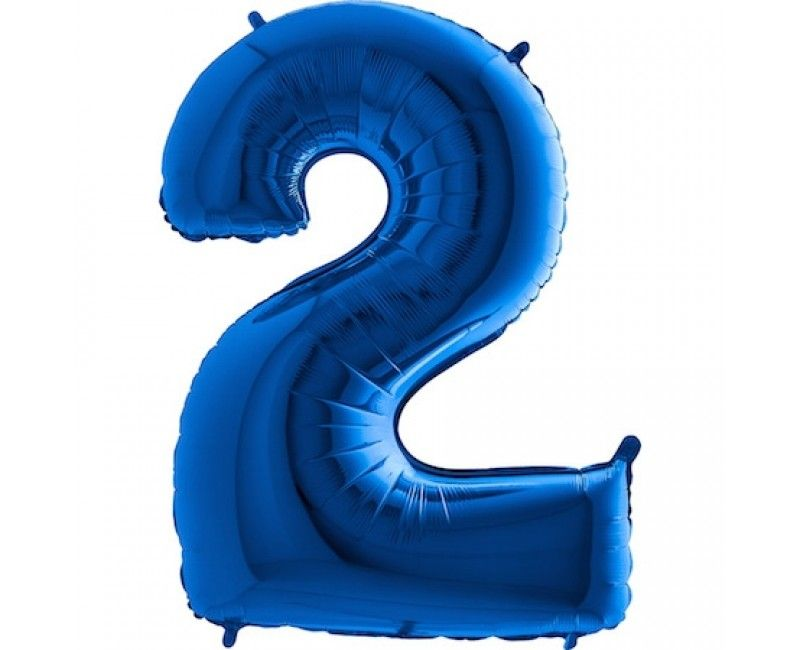 Folieballon cijfers 100cm blauw 2