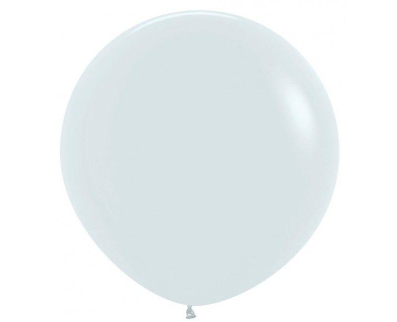 Sempertex ballon 90 cm white, 1 stuk