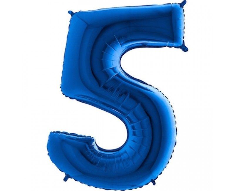 Folieballon cijfers 100cm blauw 5