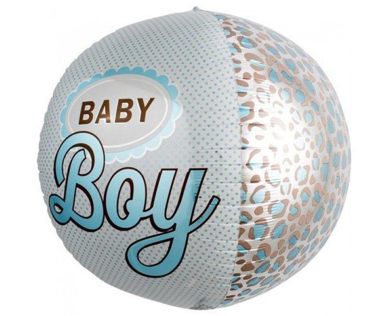 Folieballon rond XL Baby Boy