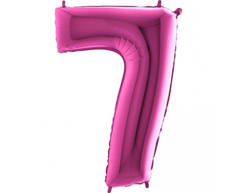 Folieballon cijfers 100cm roze 7