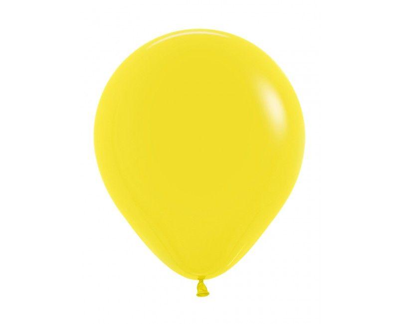 Sempertex ballonnen 45 cm yellow, 25 stuks