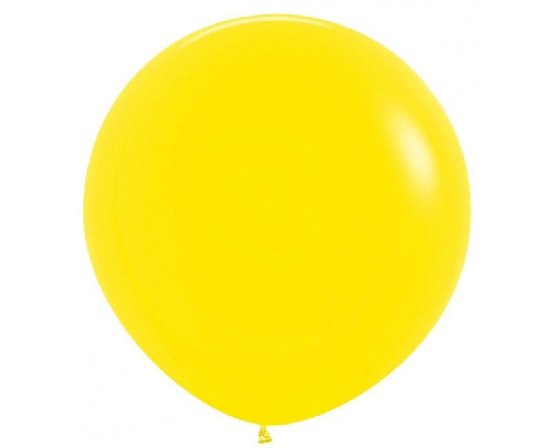 Sempertex ballon 90 cm yellow, 1 stuk