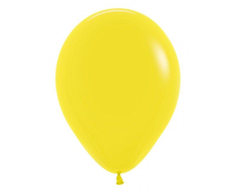 Sempertex ballonnen 12 cm yellow, 50 stuks
