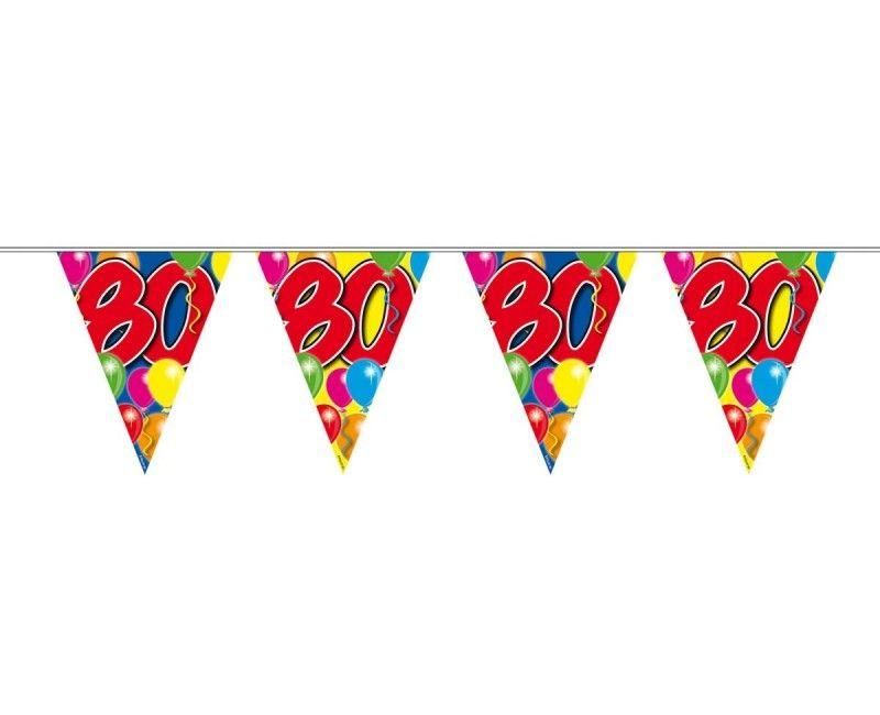 Vlaggenlijn ballonnen 80