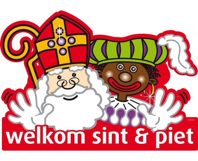 Deurbord Sint en Piet modern