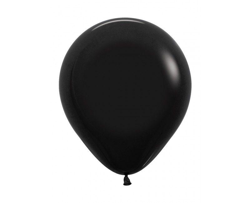 Sempertex ballonnen 45 cm zwart, 25 stuks