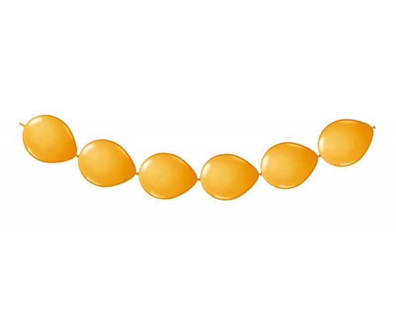 Knoop ballonnen oranje