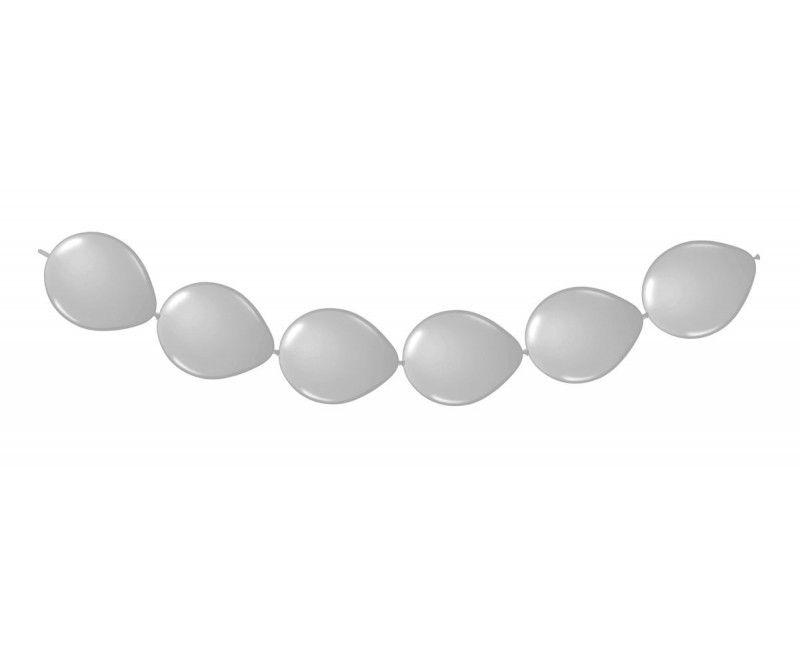 Knoop ballonnen zilver