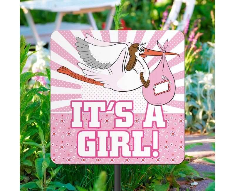 Tuinbord It's a girl