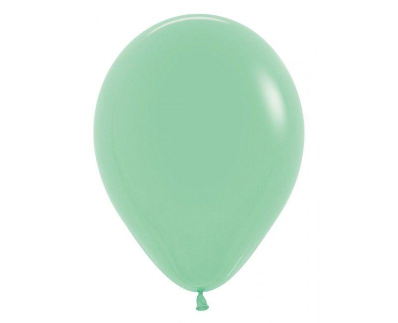 Sempertex ballonnen 30 cm mint groen, 50 stuks