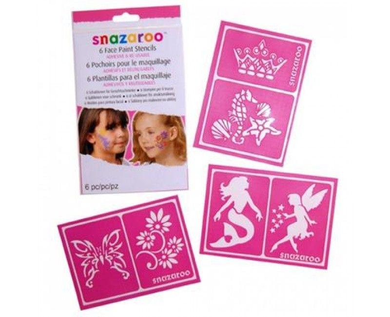 Snazaroo meisjes schmink sjablonen, 6 afbeeldingen