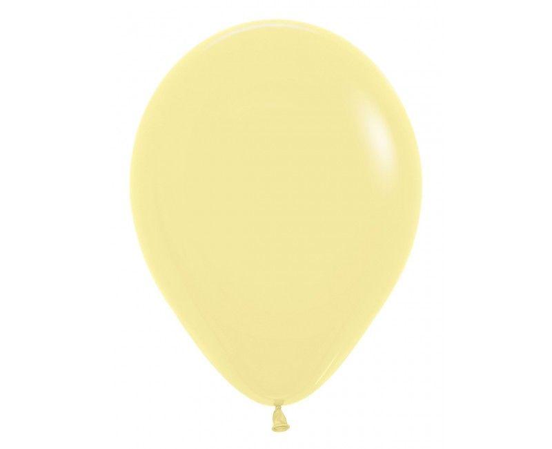 Sempertex ballonnen 12 cm pastel yellow, 50 stuks