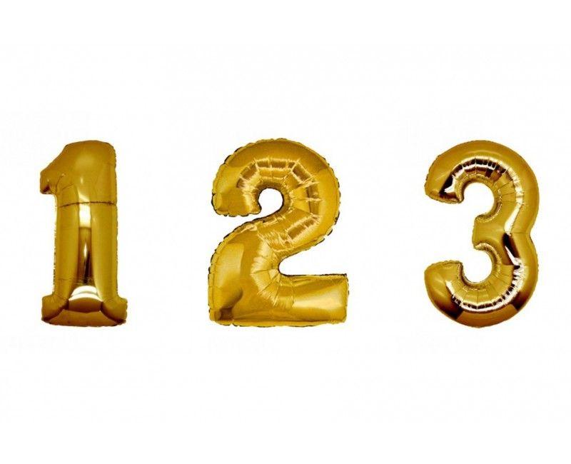 Folieballon cijfers 100cm goud