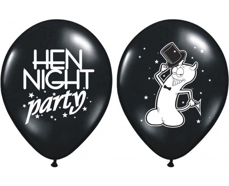 Ballonnen vrijgezellenfeest zwart