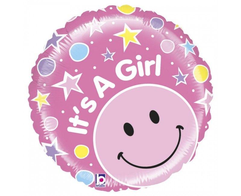 Folieballon It's a Girl mighty bright