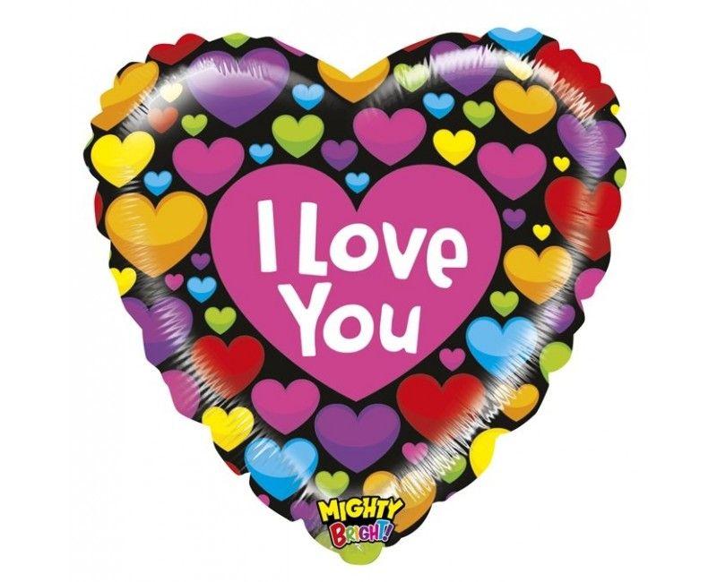 Folieballon Mighty heart of love