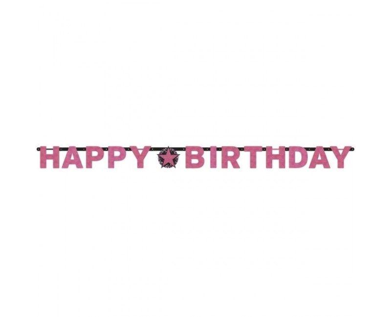 Letterslinger sparkling Happy Birthday pink