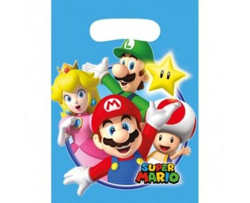 Uitdeelzakjes Super Mario, 8 stuks