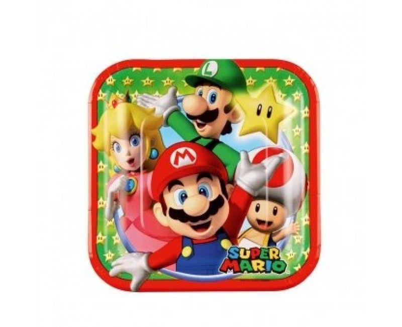 Borden Super Mario, 8 stuks