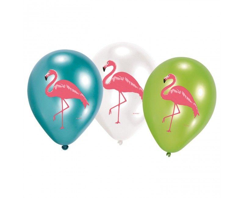 Ballonnen Flamingo stijl
