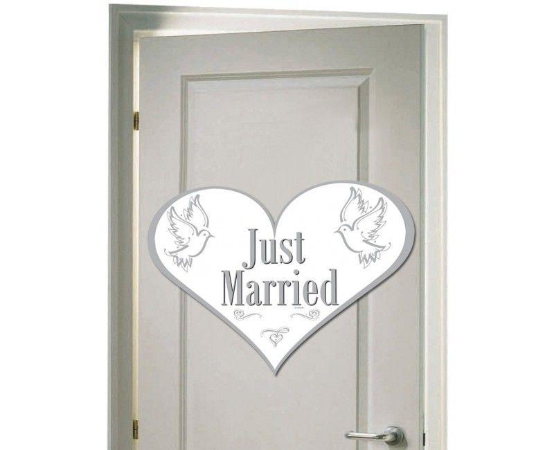 Deurversiering Just Married