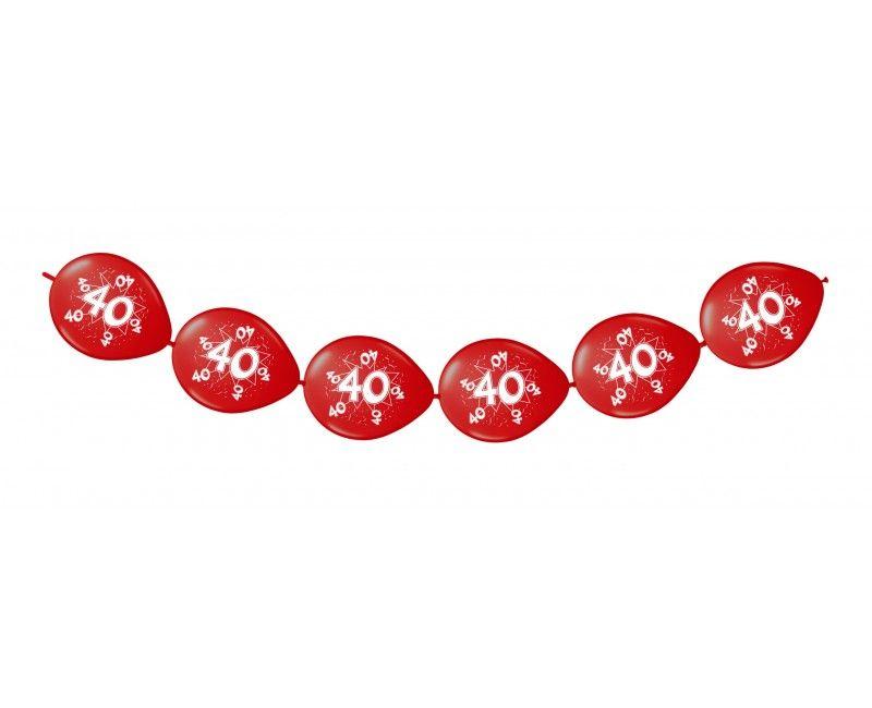 Knoop ballonnen rood 40