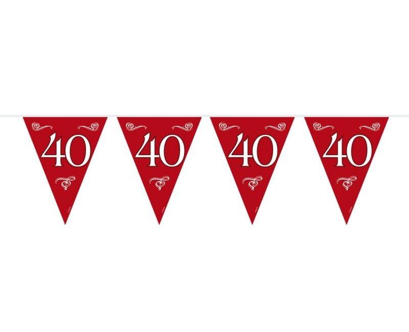 Vlaggenlijn jubileum 40 jaar