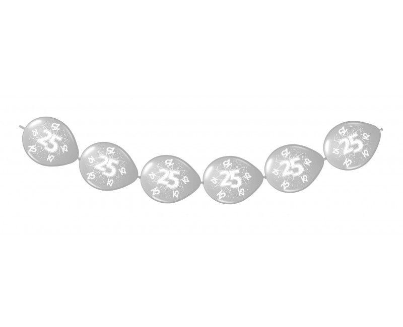 Knoop ballonnen zilver 25