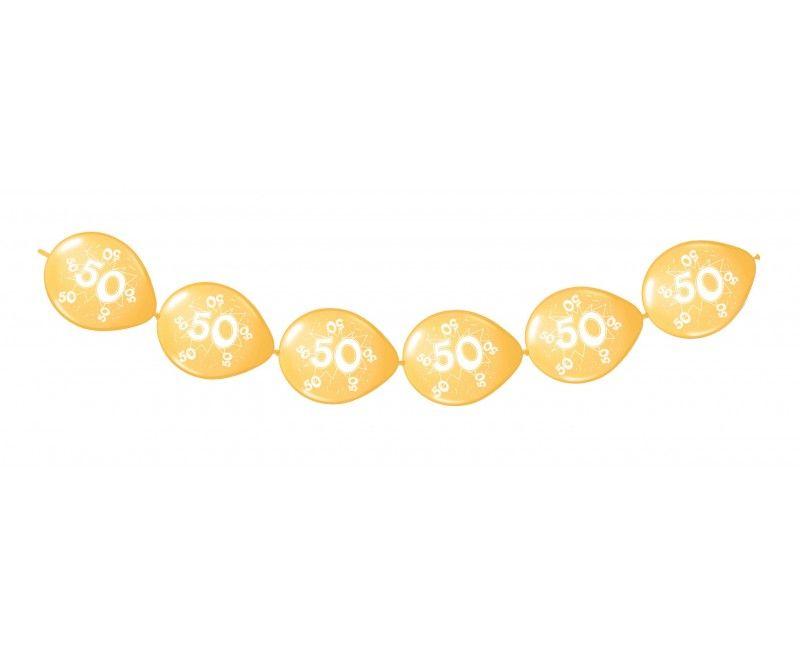 Knoop ballonnen goud 50