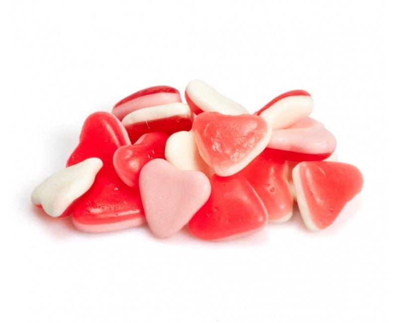 Love hearts snoep hartjes rood-wit-roze, zak 1kg
