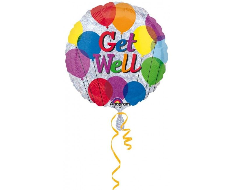Folieballon 45cm Get Well