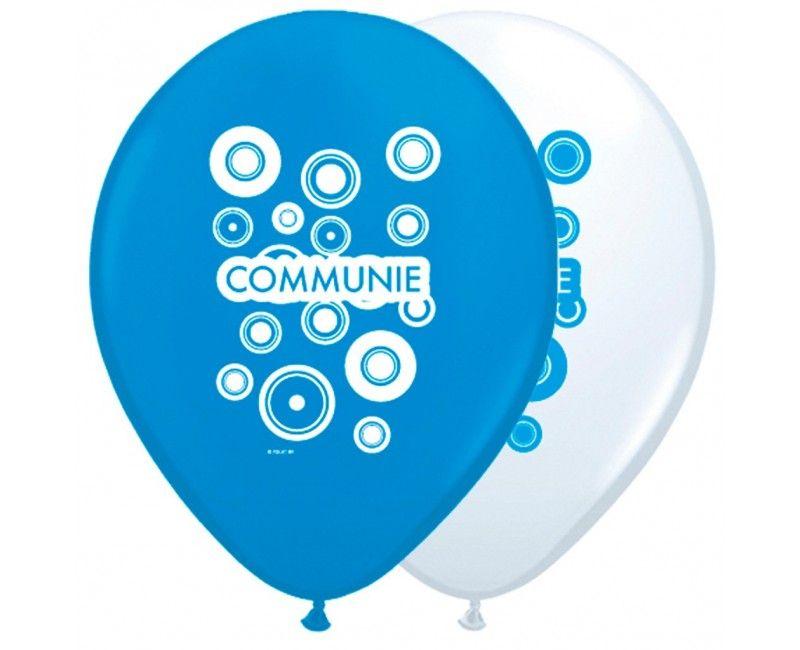 Communieballonnen jongen 8 stuks