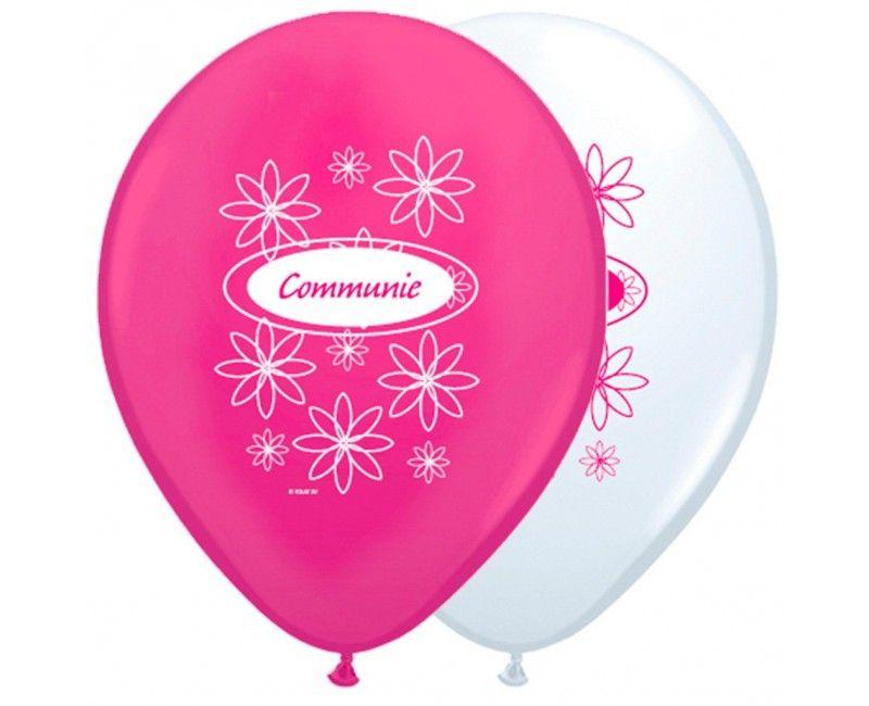 Communieballonnen meisje 8 stuks