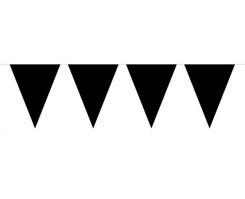 Vlaggenlijn 10 meter zwart