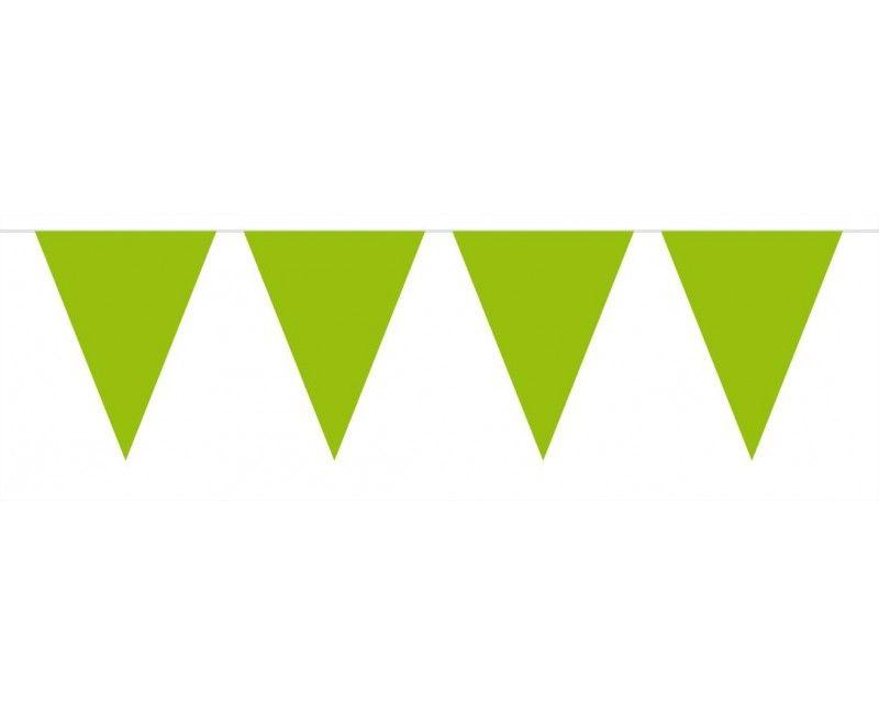 Vlaggenlijn slinger 10 meter groen