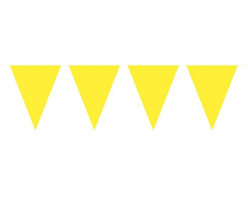 Vlaggenlijn slinger 10 meter geel