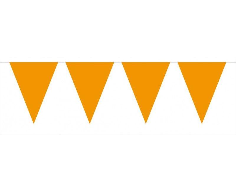 Vlaggenlijn slinger 10 meter oranje
