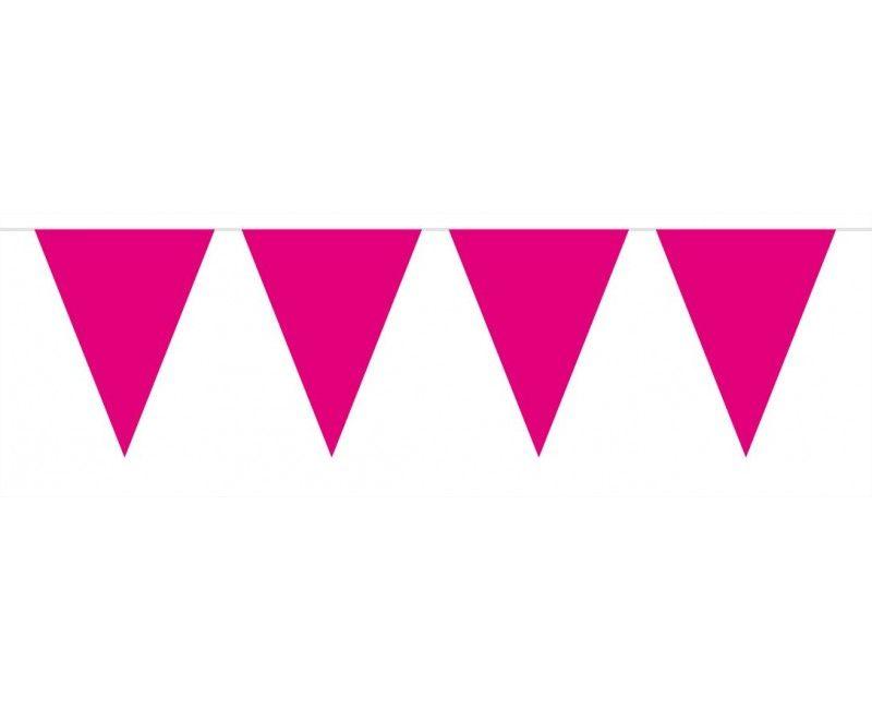 Vlaggenlijn roze, lengte 10 meter