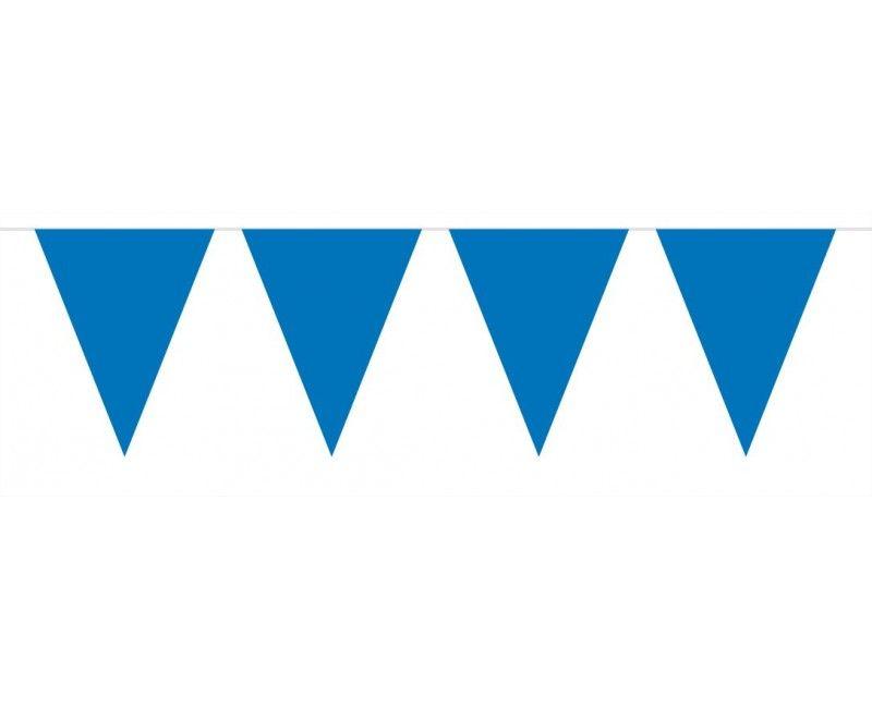 Vlaggenlijn slinger 10 meter blauw