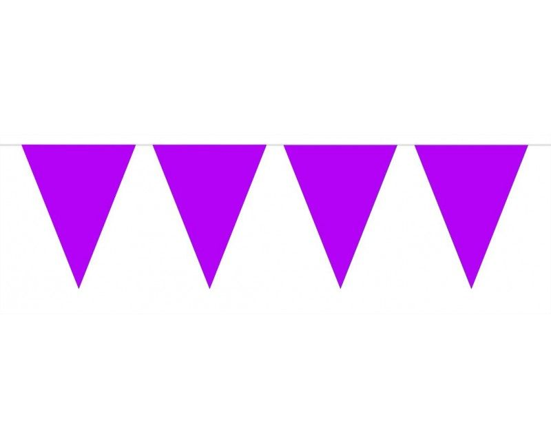 Vlaggenlijn slinger 10 meter paars
