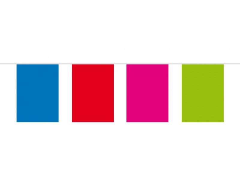 Vlaggenlijn rechthoek multicolour