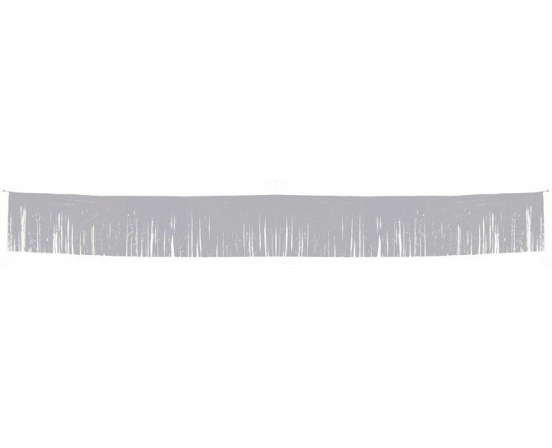 Franje slinger zilver metallic 34 x 600cm