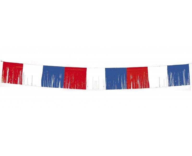 Franje slinger rood wit blauw 1 mtr x 5 mtr