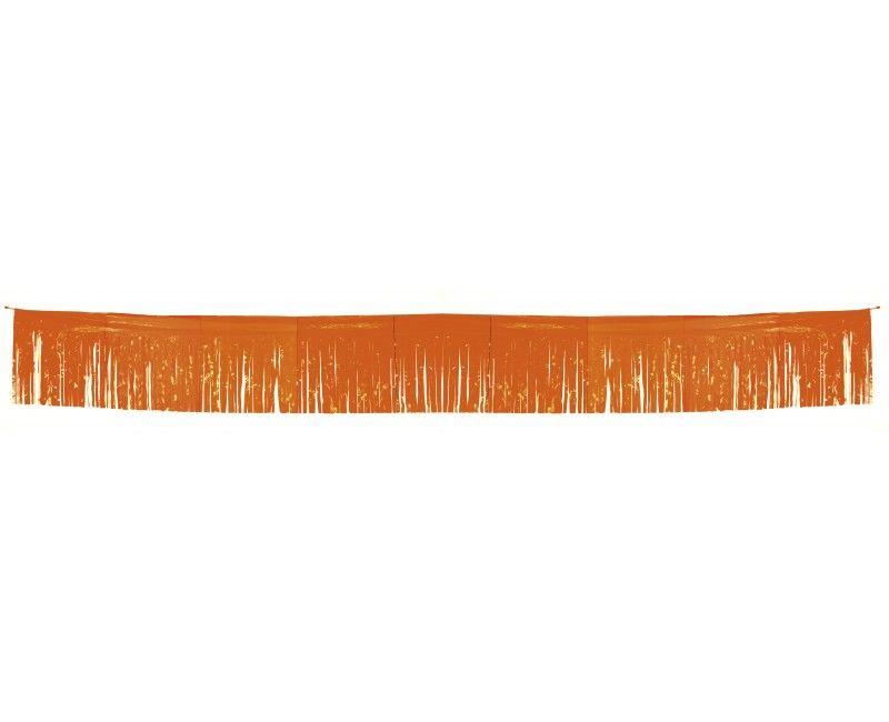 Franje slinger oranje 34 cm x 10 mtr