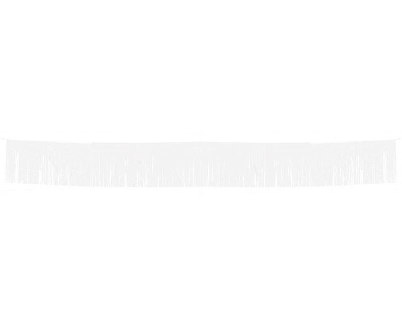 Franje slinger wit 34 x 1000 cm