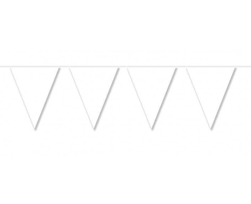 Vlaggenlijn slinger 10 meter wit