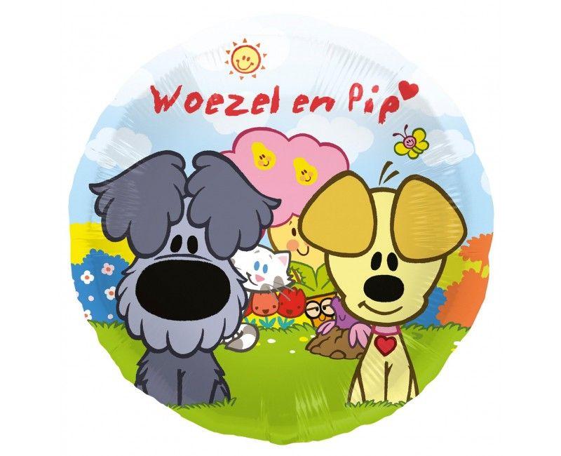 Folieballon Woezel en Pip