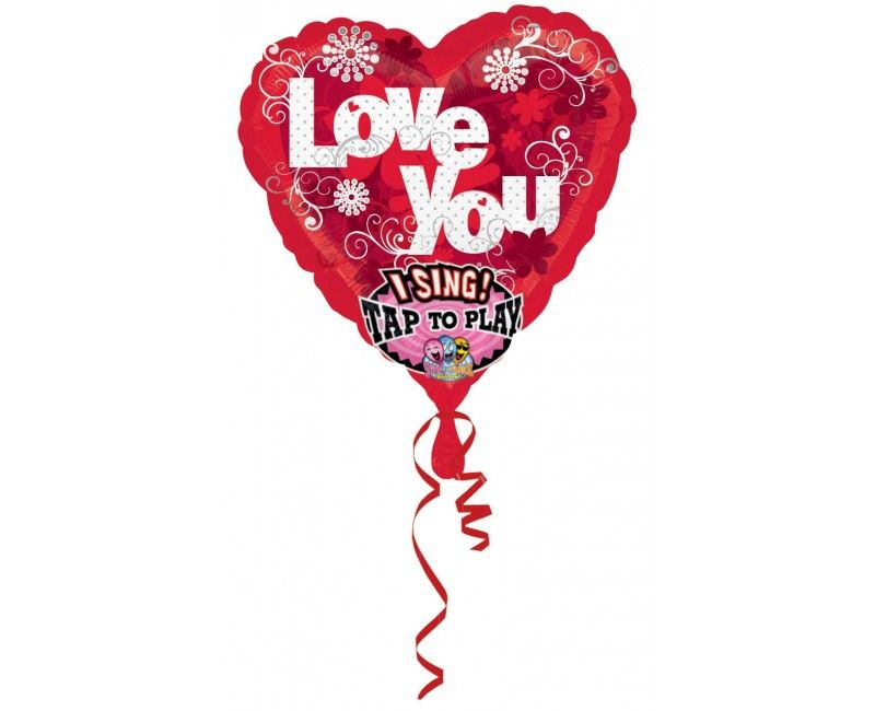 Zingende folieballon Sweet Love
